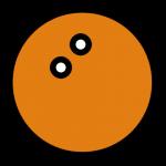 balle de squash orange